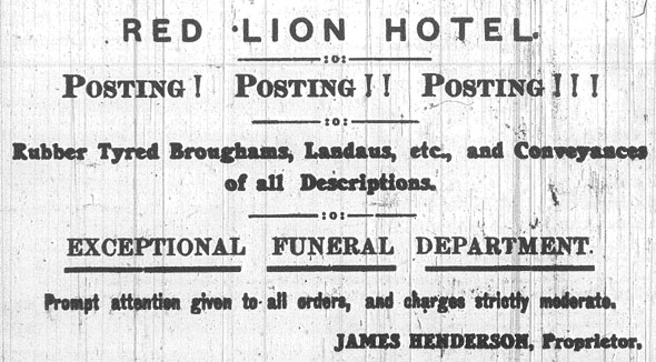 Red Lion Hotel advert