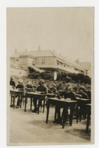 Open Air School.  Class II Writing Lesson. [HOSP/STAN/11/1/27]