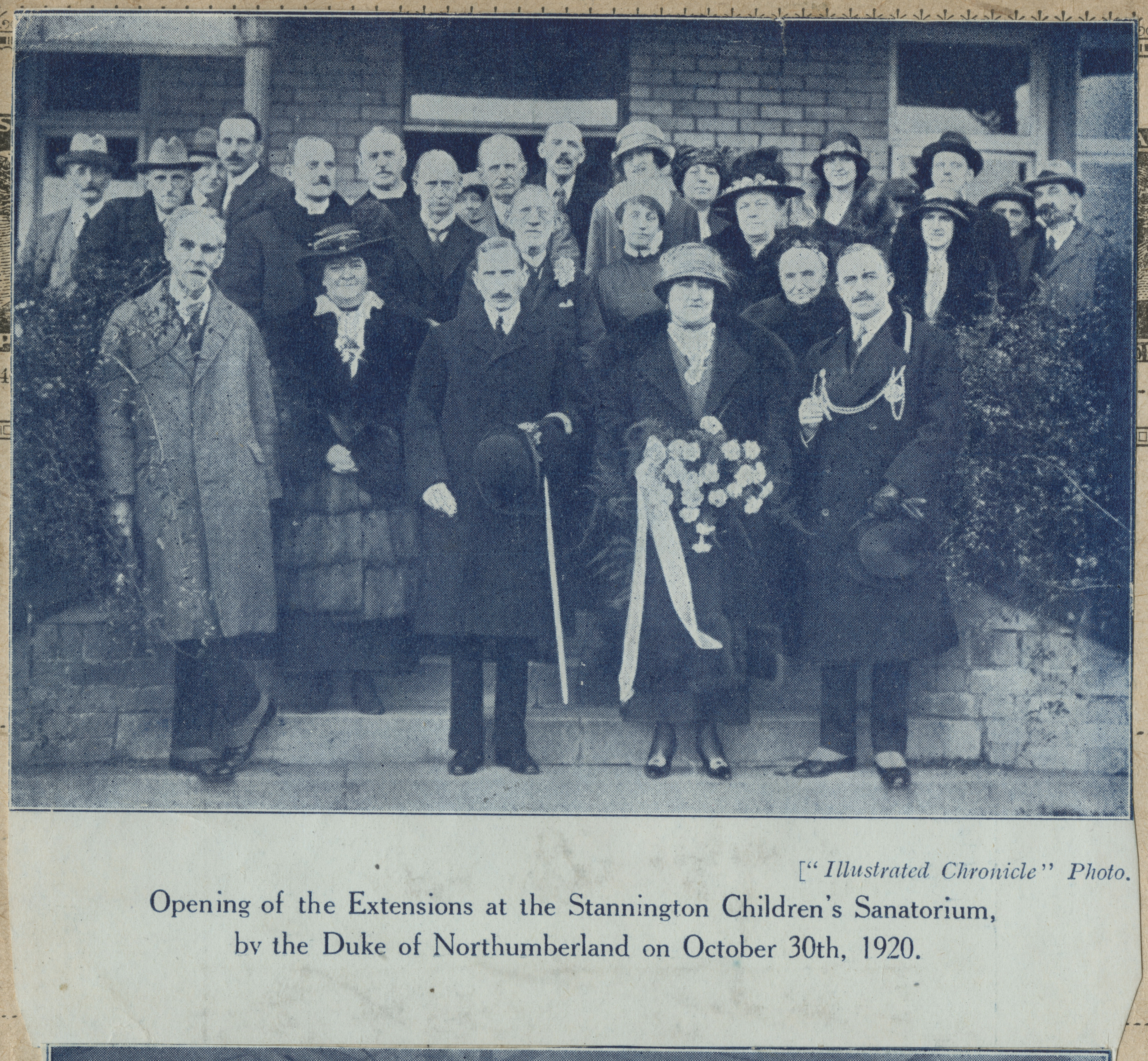 Opening of the Additional Wings by the Duke of Northumberland 30th October 1920 (NRO 10361-01-05).