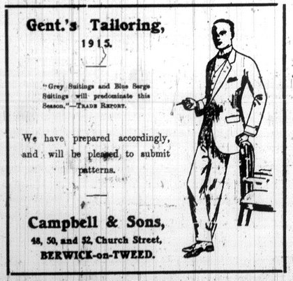 Advert for Campbell & Sons Tailors