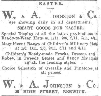 Advert for W. A. Johnston & Sons