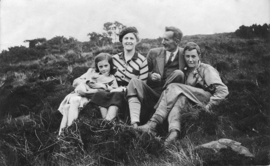 Herbert Tustin with his family - wife Sybil, daughter Lynette and son Graham - in Teesdale, c.1936.
