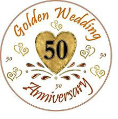 Golden Wedding celebration badge.