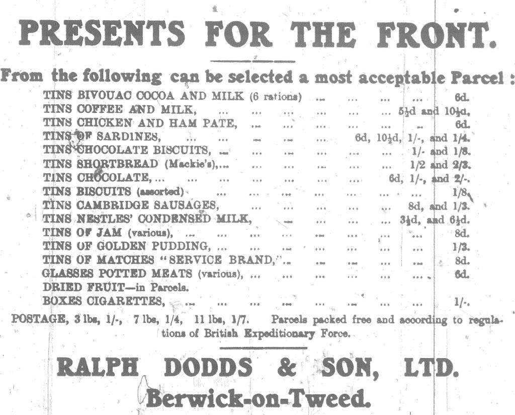 BAdvertiser 21 May 1915 Presents For The Front-advert