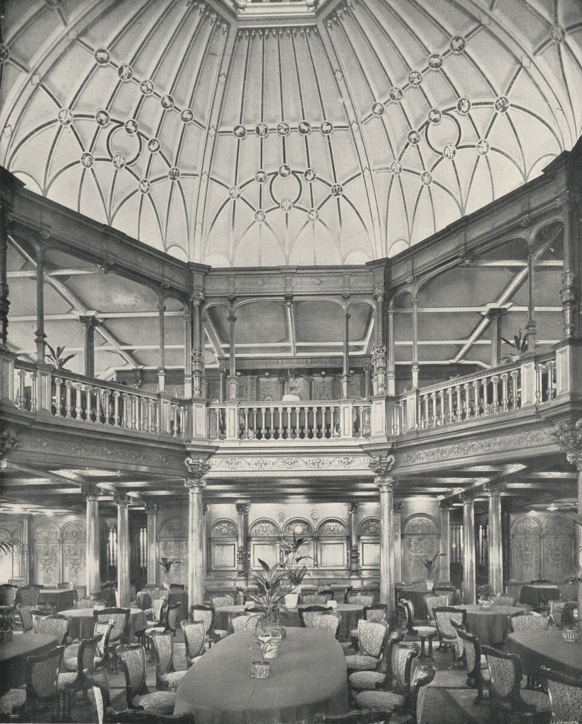 The Lower & Upper Dining Saloons and Dome