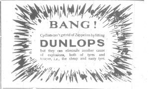Berwick Advertiser 11 June 1915, Dunlop Advert.
