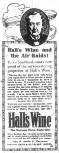 Berwick Advertiser 4 June 1915 Hall's Wine