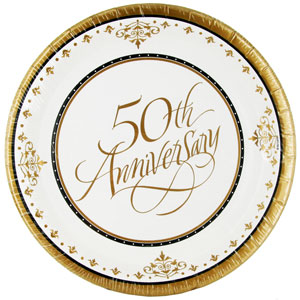 Golden Wedding Anniversary Plaque