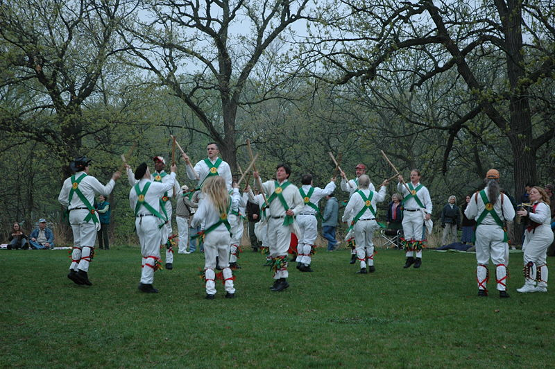 Morris Dancing today is still popular with both the young and old. Photograph Ralph Jenson, Creative Commons attribution 2.0 generic license