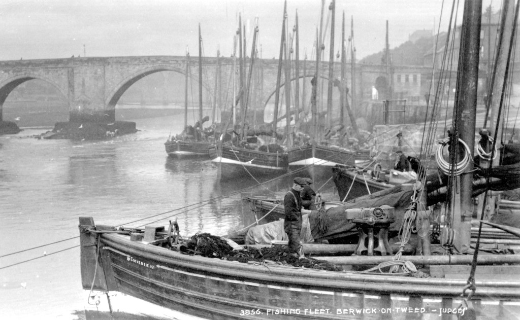 BRO 426/669 Fishing Fleet, Berwick Harbour early 1900s