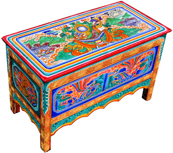 Lhasa style antique Tibetan Buddhist Altar table