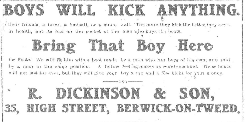 Berwick Advertiser Advert E.Dickinson & Son