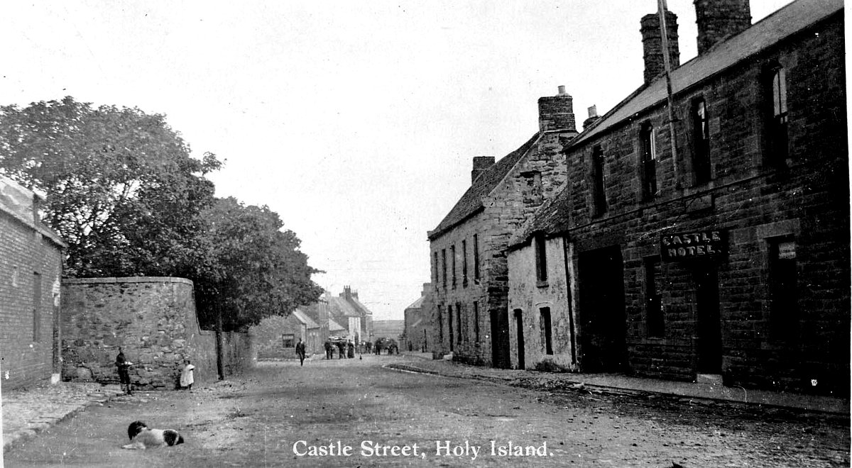 Early 1900s photograph of Castle Street, Holy Island. © Berwick Record Office - BRO 0426-1072.
