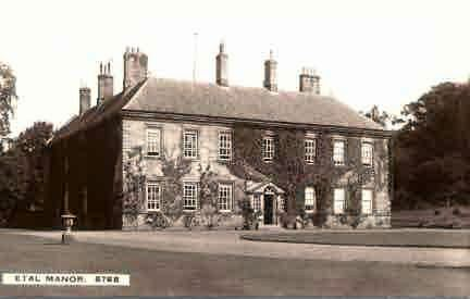 Etal Manor House, formerly a WW1 military hospital. © Berwick Record Office NRO 5192-25.