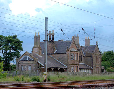 The station building at Belford railway station on the East Coast Main Line. The station, which is south of Berwick-upon-Tweed, closed in 1968. © Creative Commons Attribution-Share Alike 3.0 Unported.