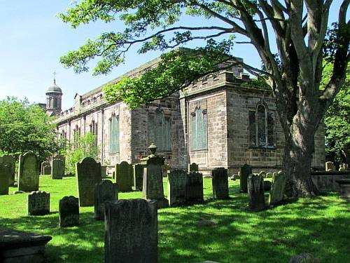 Berwick Parish Church. © John Box - Friends of Berwick and District Museum and Archives website.