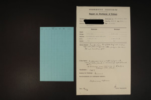 Pages from a patient file incuding discharge report