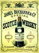 Early advertisement for James Buchanan's Whisky.