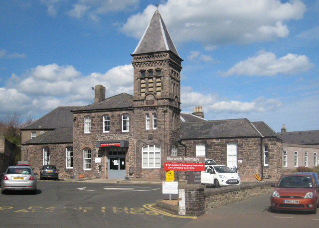 A recent photograph showing Berwick Infirmary. © Rod Allday, Creative Commons Attribution-ShareAlike 2.0 license.