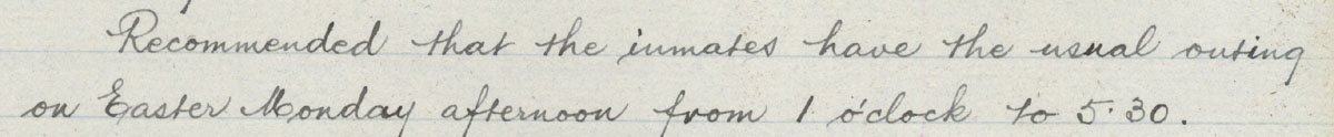 Proposed Easter Outing 1902 GHE/12