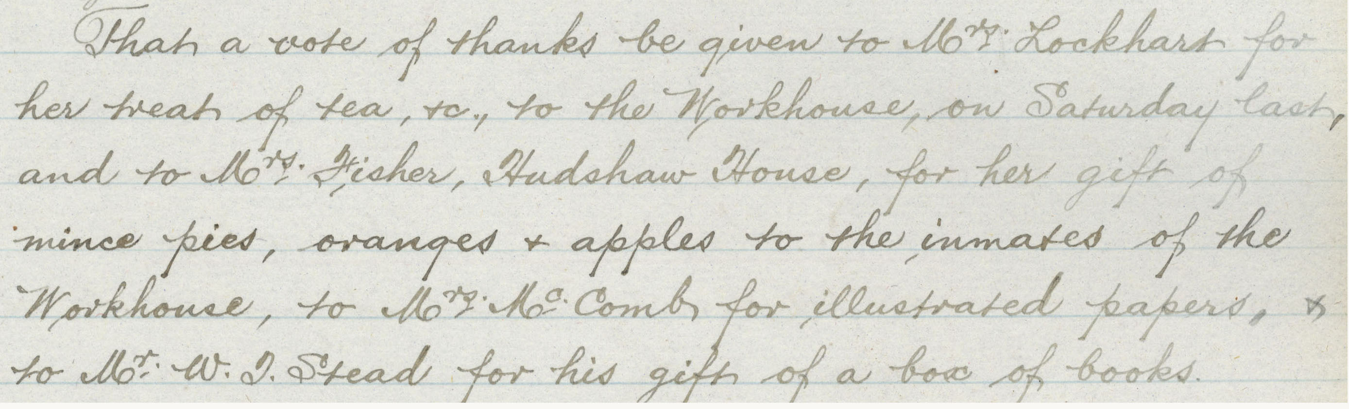 Treats from patrons Christmas 1900 GHE/12