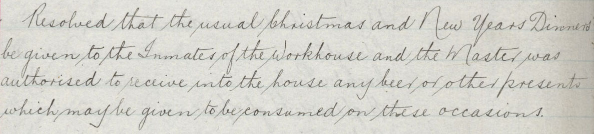 Permission to receive Christmas gifts 1903 GMO/1