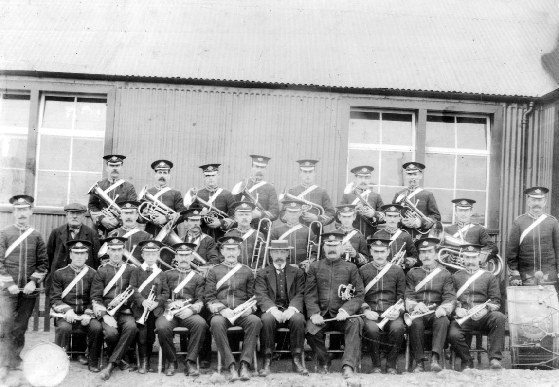 Scremerston Colliery Silver Band - © Berwick Record Office, BRO 1753-2a.