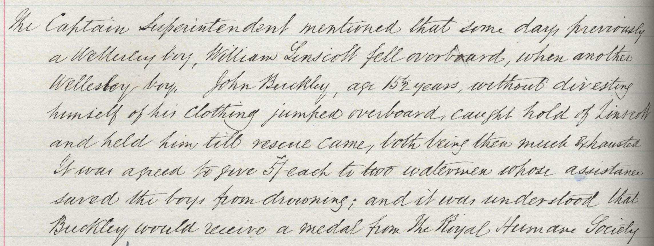 Minute Book Entry 16 December 1897