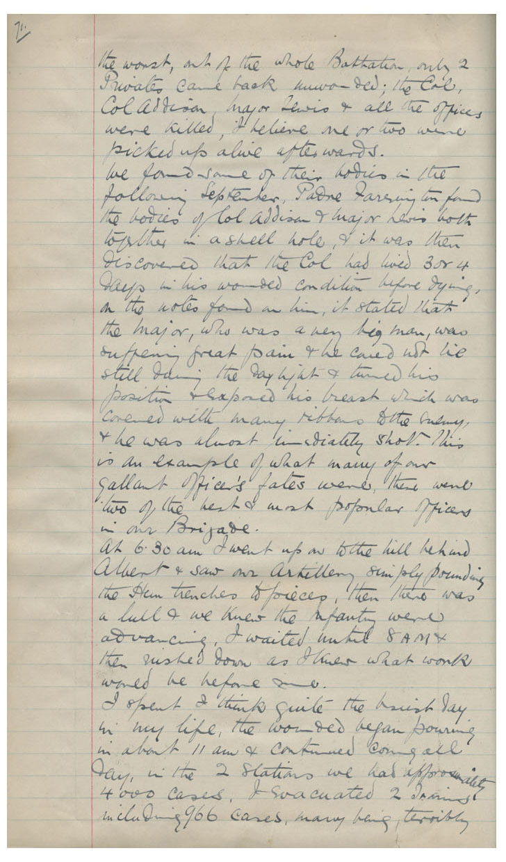 Diary Entry July 1st 1916