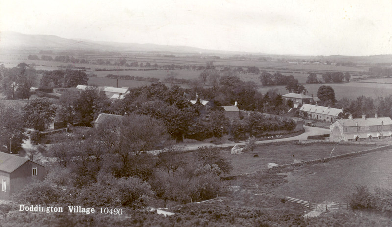 An early photograph of Doddington village in Northumberland, where Piper Laidlaw,lived in 1916. © NRO 5176-33