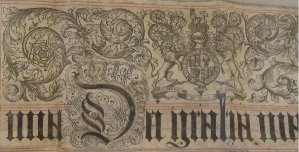 Detail from the same Exemplification of Recovery, 1710.